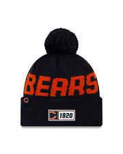 New Era NFL Chicago Bears Navy Bobble 2019/2020 Sport Knit Sideline Beanie Hat