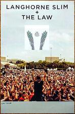 LANGHORNE SLIM +THE LAW Spirit Moves Ltd Ed RARE Poster +FREE Rock Folk Poster!