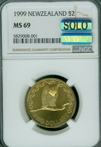 1999 NEW ZEALAND BRONZE $2 NGC MS-69 MAC SOLO FINEST MAC SPOTLESS 5,000 MINTED *