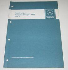 Werkstatthandbuch Mercedes W 124 230 E W 126 S-Klasse W 201 190er Motor 1985!