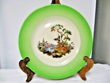 Older MAYER  China True Ivory Plate-Green Band-Scene