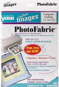 PhotoFabric Cotton Poplin Fabric Sheets 5 sheets