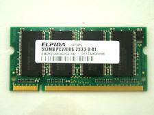 Elpida 512MB EBD52UD6ADSA-6B DDR1 Sodimm PC2700S RAM Memory #KZ-264