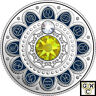 2017 'Leo - Zodiac Series' Crystalized Proof $3 Silver Coin .9999 Fine (18156)NT