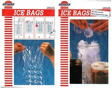 ICE CUBE FREEZER PARTY DRINK BAR BAGS MAKES 900 ICE CUBES