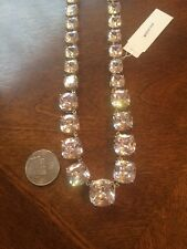 New NWT CZ By Kenneth Jay Lane KJL Crystal Collar Heavy Statement Necklace