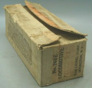 LIONEL PREWAR ORIGINAL 260E STEAM LOCOMOTIVE EMPTY BOX ONLY