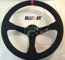350mm Ralliart Suede Leather Deep Dish Steering Wheel for Rally Lancer EVO 4 5 6