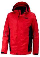 Neu Herren Marken Funktions-,Outdoor,-Doppel Jacke schwarz rot Regen Kapuze 50 L