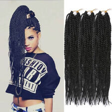 3Packs Synthetic Pretwist Braids Senegalese Crochet Hair Extensions 18'' Black