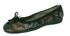 Aerosoles Stitch N Turn Shoes Sz 9 Ballet Flats Teacup Black & Colorful Loafers