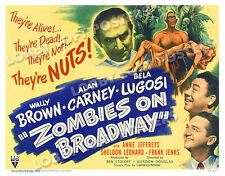 ZOMBIES ON BROADWAY LOBBY CARD POSTER HS-A 1945 WALLY BROWN ALAN CARNEY LUGOSI