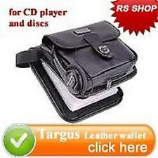 New Luxurious genuine leather 24 CD storage Bag Case