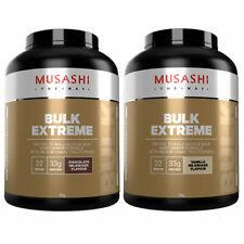 MUSASHI Bulk Extreme Protein Powder 2KG Choose Vanilla OR Chocolate Flavour