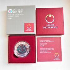 Österreich 25 Euro NIOB 2016 - DIE ZEIT - Komplett m. Zertifikat u. Umkarton