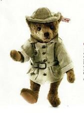 "STEIFF ""LIVINGSTONE TEDDY BEAR"" EAN 034985 MOHAIR BEAR IN SAFARI OUTFIT 2013"