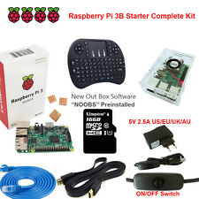 Raspberry Pi 3 Model B 1GB RAM Quad Core 1.2GHz CPU Starter Kit Media Center