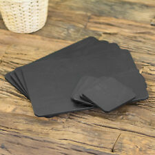Set of 4 Placemats and 4 Coasters Black Ash Wooden Veneer Table Setting Mats