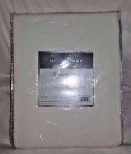 "Madison Park Blanket Liquid Cotton Twin White Solid 66""x90"" Bedding New"