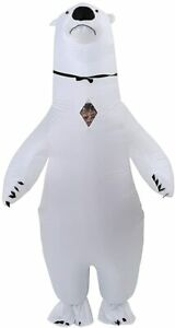Inflatable Polar Bear Costume Halloween Suit Fancy Dress Cosplay Blow Up Costume