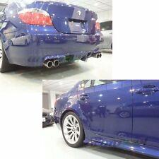 Unpainted BMW 5er E60 4DR M5 Model Rear Diffuser Bumper + Side Skirt Right Left
