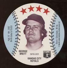 1977 Detroit Caesars Disc, George Brett, NrMt condition