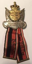 MEDAL GERMAN WW1 WURTTEMBERG KRIEGERBUND BADGE