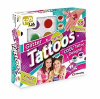 Glitter Kids Tattoos Set Kit Art Glue Temporary Stencils Shimmery Craft Fancy