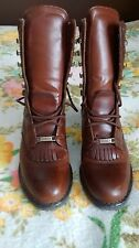 WOMEN'S DOUBLE H BROWN BOOTS SIZE 6M