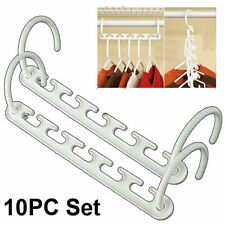 Plastic Space Saving Closet Hangers - Cascading Clothes Hangers - 5 or 10pc Set