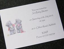 10 Personalised Baby Shower Invitations / Thank You Cards -  Boy - Girl -Unisex
