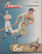 1951 Boston Braves vs Brooklyn Dodgers Program with Scorecard Scored Correctly