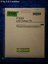 Sony Manuel d'utilisation KF 50sx300/60sx300 LCD Color TV (#2120)