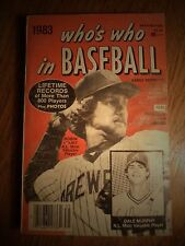 1983 WHO'S WHO IN BASEBALL 68TH EDITION ROBIN YOUNT A.L. DALE MURPHY N.L;M.V.P.