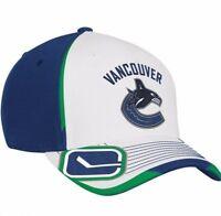 Vancouver Canucks Reebok MO75Z NHL Center Ice Stretch Fit Hockey Cap Hat  L/XL