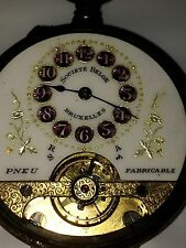 Montre Gousset HEBDOMAS 8 Jours Pocket Watch Swiss Made Taschenuhr Reloj Suisse