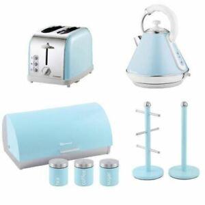 SQ Pro. Kettle,Bread bin & Mug Tree Set or single piece (Sky Blue)