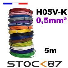 fil de câblage souple H05V-K 0,5mm² - 5 m plusieurs couleurs au choix