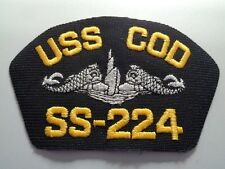(a37-1382) US NAVY CAP Patch USS Cod ss-224 with Enlisted sous-marin Insignia