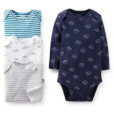 NEW NWT Carter's Newborn Boys 4 Pack Elephant Turtle and Striped Long sleeve