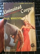 Uninvited Corpse By Paul Whelton Graphic Mystery 24 Rare Collectible Paperback