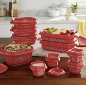 The Pioneer Woman 20 pc MAZIE (Red) Food Storage Set *NEW*
