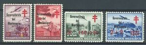 "MONTENEGRO ITALIAN OCC.1942 - Red Cross ""Goverment of Montenegro"" MI.34A/34D RRR"