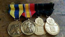 US MILITARY MEDAL EXPEDITION NATIONAL DEFENSE EXPERT RIFLEMAN, EXPERT PISTOL