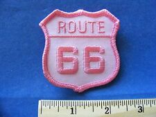 route 66 patch  (shield shape, pink !)