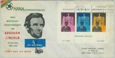 79102 - GHANA - Postal History - S/S on FDC COVER  1959 -  Abraham Lincoln