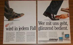 Vintage 1991 COMPAQ PCs Personal Computer Print Ad advert #1 German