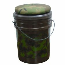 Evans Sports Original Bucket Swivel Seat Cooler Camouflage 5 Gallon Bucket NEW