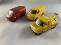 Corgi - Ford Transit Job Lot Bundle - AA, AA Tow Truck, Royal Mail Parcel Force