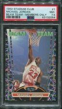 1992 Stadium Club MICHAEL JORDAN Beam Team #1 Chicago Bulls PSA 7.5 NM+